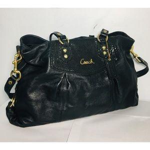 Coach Black Ashley Leather Handbag F19243